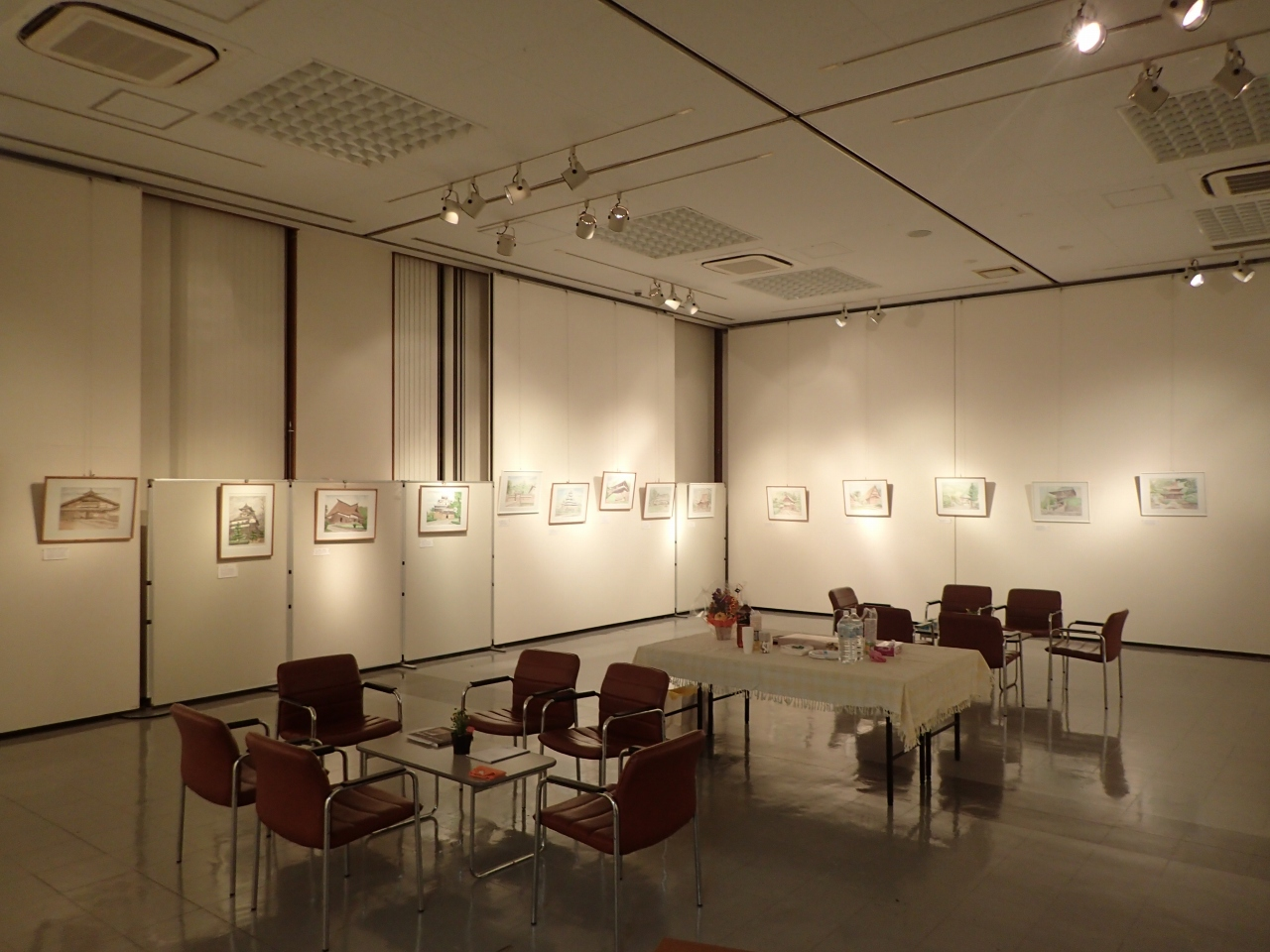 第9回 水彩スケッチ展 日本の古建築と北イタリアの旅